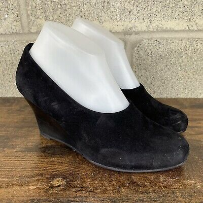 £24.10 • Buy Eileen Fisher Suede Leather Wedge Pumps Womens Sz 7.5