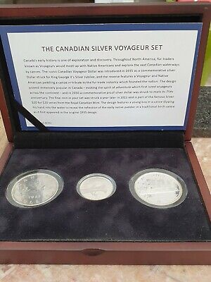 £7.50 • Buy Canada Silver 3 Coin Voyageur Set King George V  Silver $20 & 2 X Silver $1