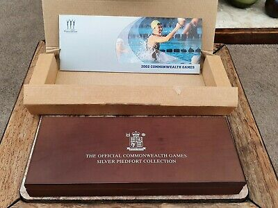 £385 • Buy 2002 Commonwealth Games Piedfort £2 Two Pound Silver Proof  4 Coin Set Box Coa