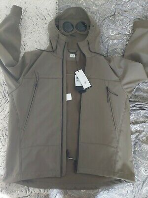 £250 • Buy CP Company Soft Shell Goggle Jacket In Ivy Green Size 56/xxl BNWT