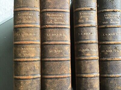 £9.99 • Buy Expository Thought On The Gospels By J C Ryle D D 1901  4 Vols