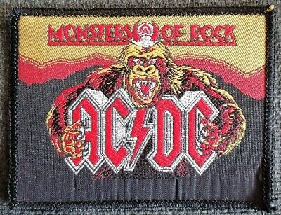 £2 • Buy Ac/dc Monsters Of Rock Sew On Patch New/old Stock New Unused Rock Metal Glam
