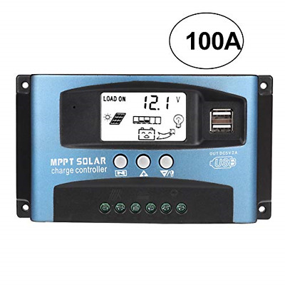 £55.16 • Buy MPPT Solar Charge Controller 40/50/60/100A, 12V 24V Dual USB Solar Pannel With