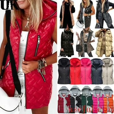 £24.99 • Buy Womens Padded Quilted Gilet Waistcoat Lady Winter Zip Up Vest Jacket Body Warmer