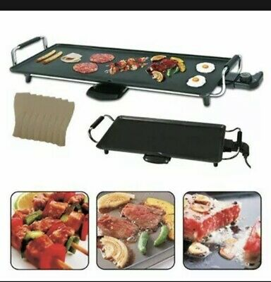 £29 • Buy Large Teppanyaki Grill Table Electric Hot Plate Bbq Griddle Camping 2000w