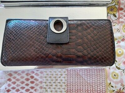AU29.99 • Buy OROTON LEATHER BROWN Snakekin Womens WALLET. Excellent Used Condition