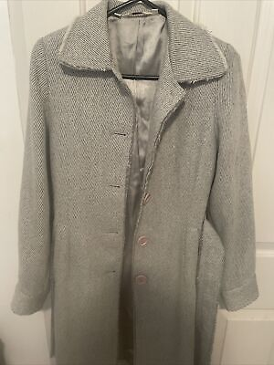 AU30 • Buy Tigerlily Trenchcoat / Jacket. Grey With Silver Thread Wool Blend. Sz S Fit 8-10