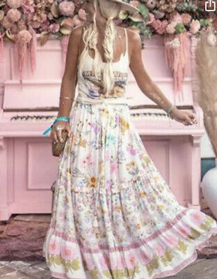 AU225 • Buy Spell And The Gypsy Wild Bloom Maxi Skirt In Cream - Small