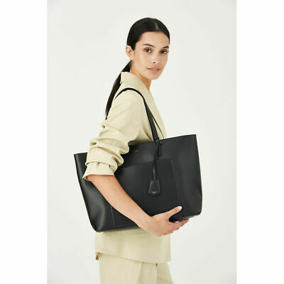 AU320 • Buy NEW OROTON Muse Shopping Work Tote Hand Bag Saffiano Leather Black RRP: $429