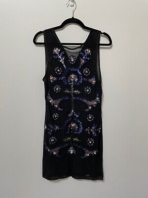 AU30 • Buy Alice Mcall Formby Hall Dress Sequined Black Dress Size 12