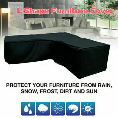 AU18.99 • Buy L Shape Outdoor Furniture Cover Waterproof Sofa Lounge Seat Couch Cover Garden