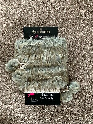 £5 • Buy Accessorize Faux Fur And Knitted Cream Boot Cuffs