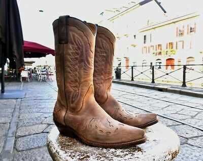 £131.20 • Buy Vintage Leather Boots Cowgirl Texan Sancho Vintage Made In Spain 37 Europe