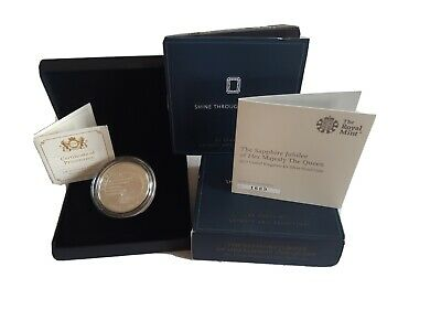 £55 • Buy 2017 Royal Mint Sapphire Jubilee UK £5 Five Pound Silver Proof Cased With COA