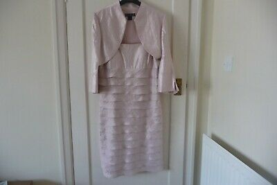 £29.99 • Buy Jessica Howard Women's Pale Pink Tiered Frills Dress And Jacket Size 12 Wedding