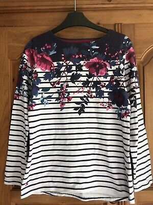 £7.99 • Buy Joules Womens Top, Size 10, Harbour, Navy/white Stripe,