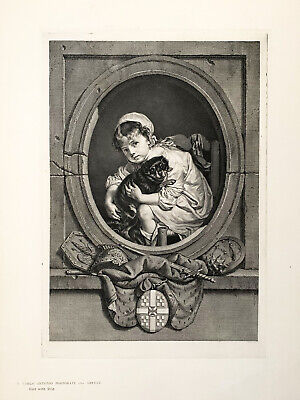 £12.50 • Buy Rare 18th Century Engraving 'Little Girl With A Dog'