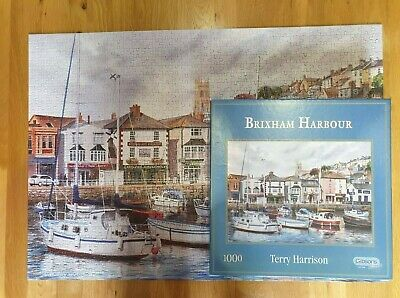£1.99 • Buy GIBSONS 1000 Piece Jigsaw - BRIXHAM HARBOUR - Terry Harrison - Complete