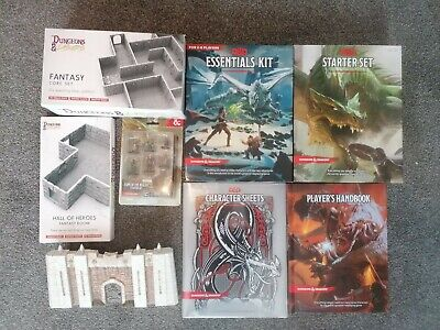 AU188.09 • Buy Dungeons And Dragons Books, Miniatures, Terrain, Dungeon Tiles Job Lot