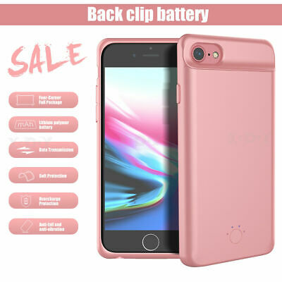 £17.49 • Buy Ultra-Slim Battery Case Backup Power Charger Charging Cover For IPhone 7 6 8 P X