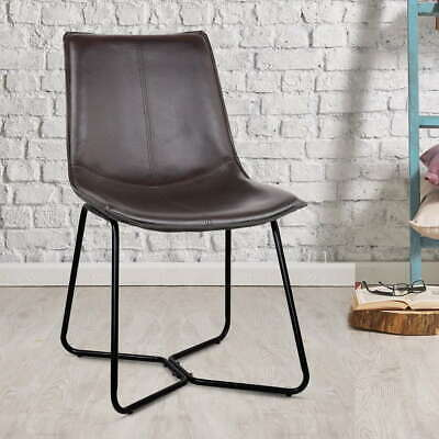AU140.39 • Buy Artiss 2x Retro Vintage Chair Dining Chairs Rustic DSW Leather Walnut