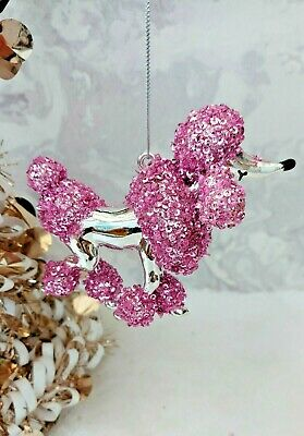 £5.99 • Buy  French Poodle Dog Christmas Tree  Figurine Ornament Decoration New
