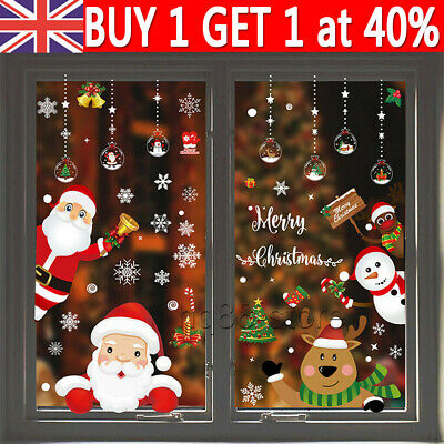£3.31 • Buy Christmas Xmas Santa Removable Window Stickers Art Decals Wall Home Shop Decor H