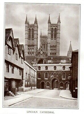 £7.90 • Buy LINCOLN Cathedral Church Original Antique Print C1899