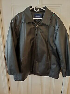 £8.41 • Buy Croft Barrow Black Leather Jacket Outer Shell 100% Leather Extra Large Xl