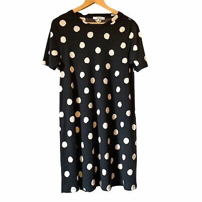£7 • Buy Black And White Polka Dot Ribbed Midi Dress From Find Size M