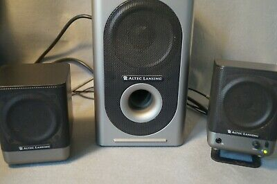 £25 • Buy Altec Lansing 221 Amplified System Subwoofer With Pair Of Stereo Speakers