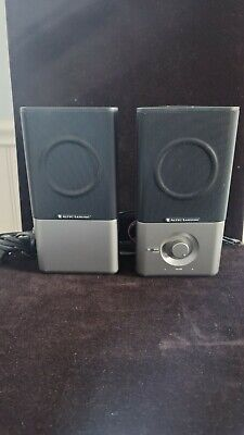 £6.57 • Buy GENUINE Altec Lansing Black Silver 220 Speakers Very Nice Sound And Condition