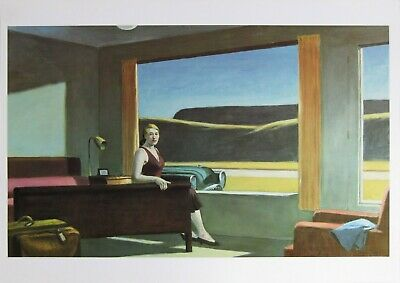 £11.90 • Buy Edward Hopper Western Motel Offset Lithograph Canvas Print Home Decor Paintings