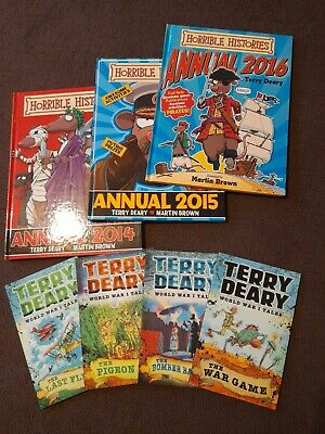 £3.50 • Buy Bundle Of Horrible Histories Annuals & World War 1 Tales By Terry Deary