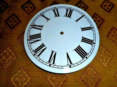 £4.99 • Buy Round PAPER (CARD) Clock Dial / Face - 8  MINUTE TRACK - Roman - GLOSS WHITE