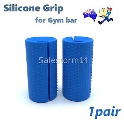 AU16.99 • Buy 1Pair Thick Fat Barbell Silicone Grips Gym Arm Dumbbell Wrap Grip Weightlift AU