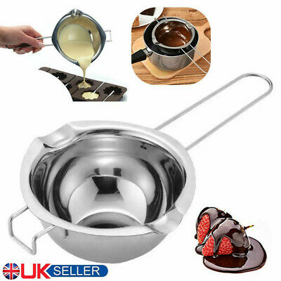 £5.98 • Buy Stainless Steel Chocolate Butter Wax Melting Pot Pan Double Boiler Baking Tool