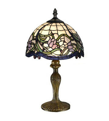£58.49 • Buy Elegant Floral Tiffany Handcrafted Glass Table / Bedside Lamps - Christmas Gift