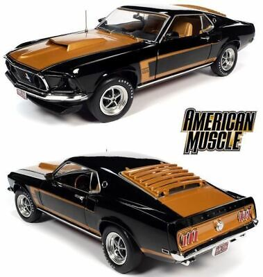 AU199.99 • Buy 1:18 1969 Ford Mustang Fastback -- Black/Gold -- American Muscle