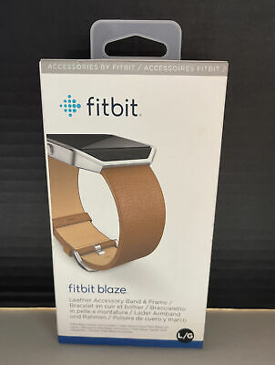 AU14.75 • Buy NEW Fitbit Blaze Accessory Replacement Leather Wrist Band Frame Large Brown OEM