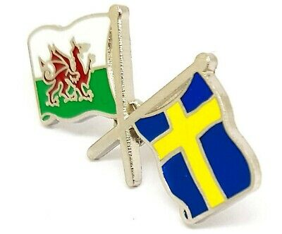 £4.49 • Buy WALES & SWEDEN Flags FRIENDSHIP Flags Metal Lapel Pin Badge Free Postage