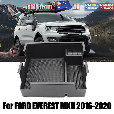 AU23.86 • Buy For Ford Everest 2016-2020 Black Armrest Storage Box Glove Box Tray Accessories