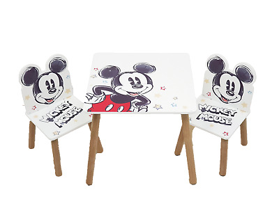 £59.99 • Buy Disney Mickey Mouse Classic Wooden Table & 2 Chairs Set By Nixy Children