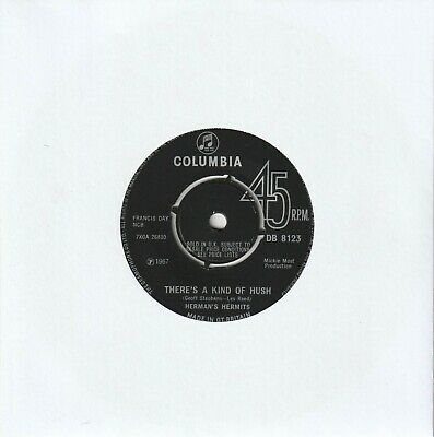 £1.50 • Buy Herman's Hermits - There's A Kind Of Hush (Columbia 1967) 7  Single