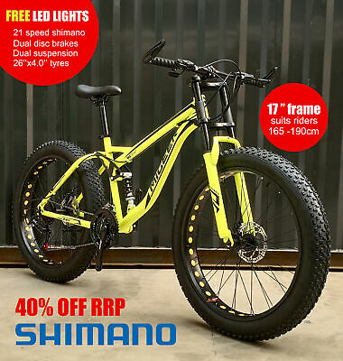 AU599 • Buy PREORDER 26x4.0 Migeer Dual Suspension Downhill Fat Tyre Bike SHIMANO 21 Speed O