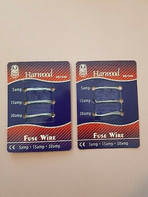 £1.90 • Buy 2 X Consumer Fuse Wire Card 5amp 15amp 30amp Domestic Carded Fusewire