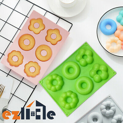 AU9.45 • Buy Silicone Mould Doughnut Ice Cube Mold Baking Muffin Tray Donut Chocolate Cake