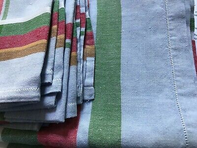 £21.99 • Buy V. Large Excellent Quality Vintage French Farmhouse Table Cloth +6 Napkins