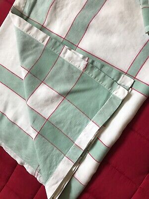 £21.99 • Buy V. Large Excellent Quality Vintage French Farmhouse Table Cloth +8 Napkins Green