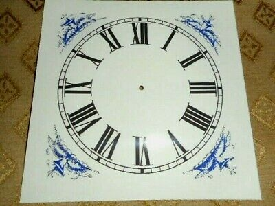 £5.84 • Buy Large PAPER (CARD) Clock Dial/Face - 6 3/4  MINUTE TRACK - Blue Corners- MATTE
